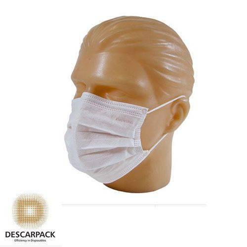 Máscara Tripla Descartável com Elástico 20 Caixas com 1000 Unidades Descarpack