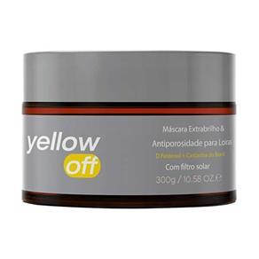 Máscara Yenzah Yellow Off Extrabrilho e Antiporosidade para Loiras - 300g