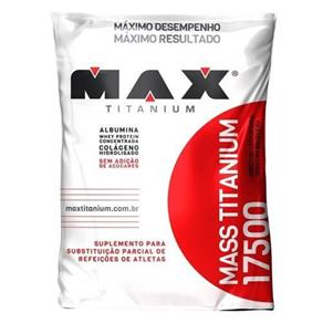 Mass Titanium 17500 - 1400g Refil Baunilha - Max Titanium