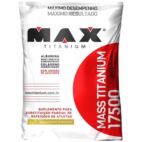 Mass Titanium 17500 Max Titanium-Baunilha-3Kg