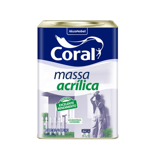Massa Acrílica 25 Kg Coral