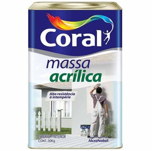 Massa Acrílica Coral 30 Kg