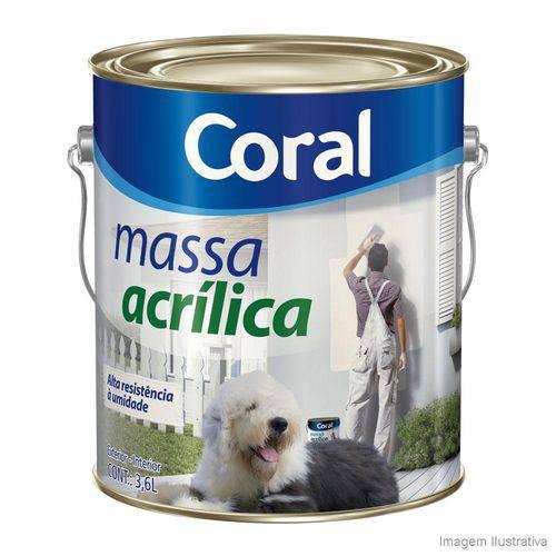 Massa Acrilica Coral 3,6 Gl