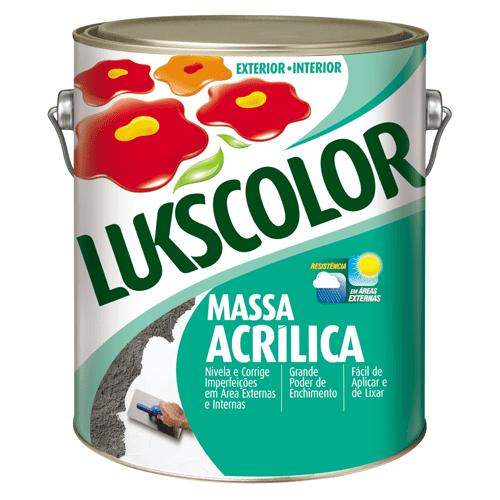 Massa Acrílica Lukscolor 3,6l