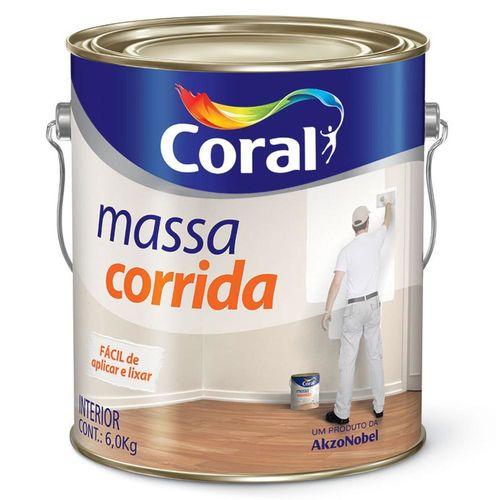 Massa Corrida Pva 6kg Branca - 5202594 - Coral