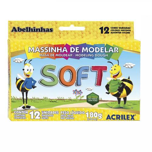 Massa de Modelar 12 Cores Soft Acrilex