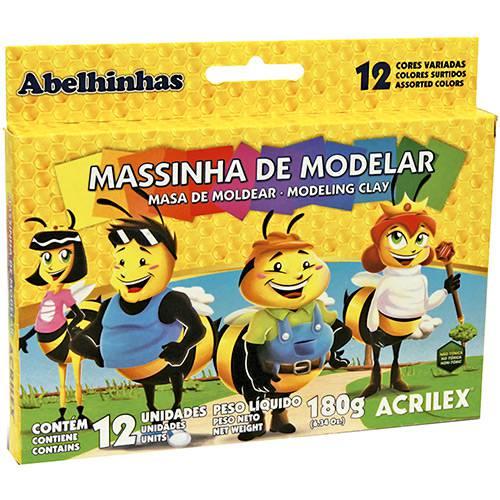 Massa de Modelar Acrilex 180gr 12 Cores