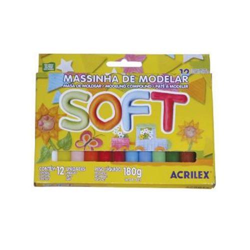 Massa de Modelar Soft C/12 Cores Acrilex