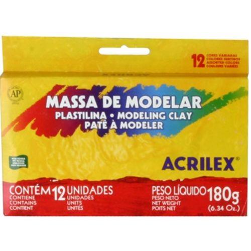 Massa Modelar Acrilex 012 Cores 07012