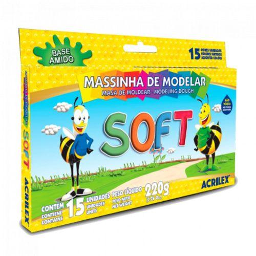 Massa Modelar Soft 15cores Acrilex