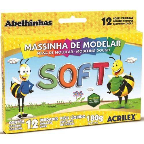 Massa Modelar Soft 180g 12 Cores Acrilex