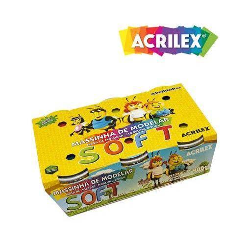 Massa P/ Modelar 6 Cores Acrilex Soft Pote