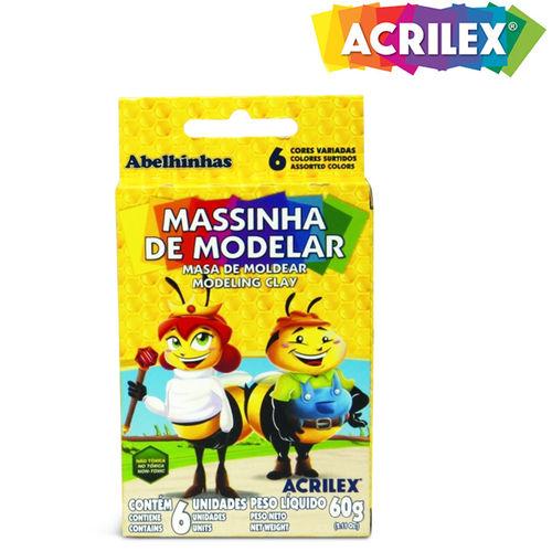 Massinha de Modelar 6 Cores 60g 07060 - Acrilex