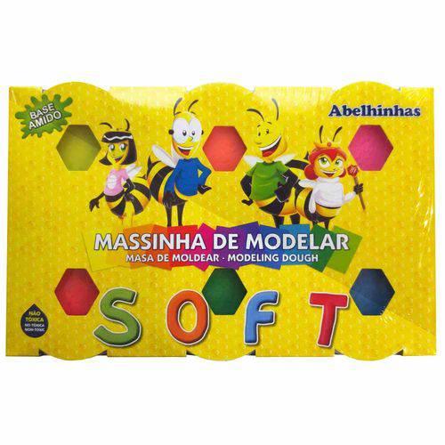 Massinha de Modelar 6 Cores Soft Acrilex