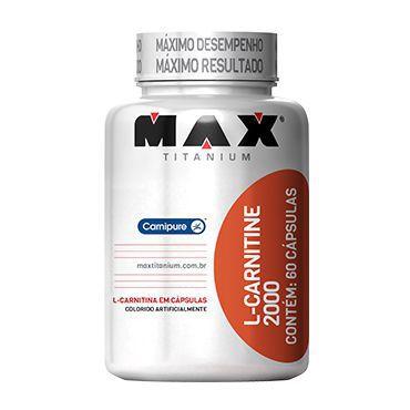 Tudo sobre 'Max Titanium L-carnitina 2000 60 Caps'