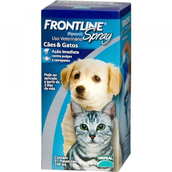 Antipulgas e Carrapatos Merial Frontline Spray para Cães e Gatos 100ml