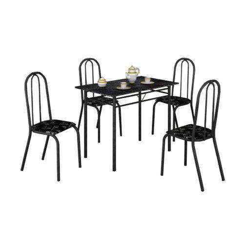 Tudo sobre 'Mesa com 4 Cadeiras Craqueadas Realeza Preta'