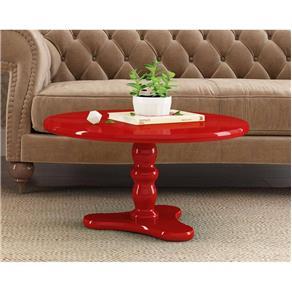 Mesa de Centro Intense Vermelho Brilhante - Patrimar Móveis