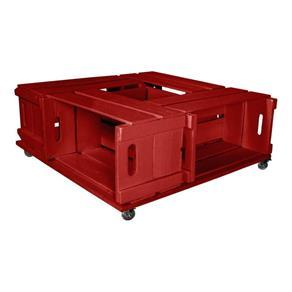 Mesa de Centro Rústica Ipanema - Vermelho