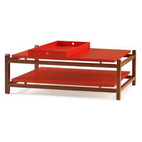 Mesa de Centro Uno Maxima - Vermelho