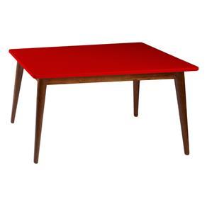 Mesa de Jantar Novita - 120x90cm - Vermelho - Vermelho