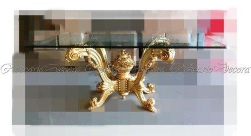 Tudo sobre 'Mesa de Jantar Retangular Madeira Folha Ouro Tampo de Vidro'