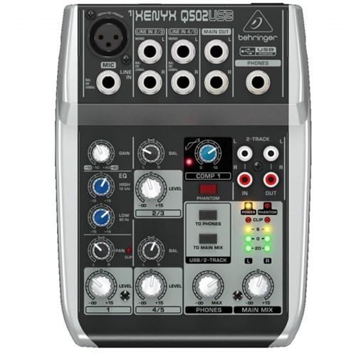 Mesa de Som 5 Canais 110V Xenyx 110V Q502 - Behringer