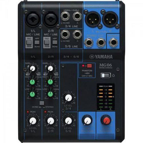 Mesa de Som 6 Canais Mg06 Yamaha