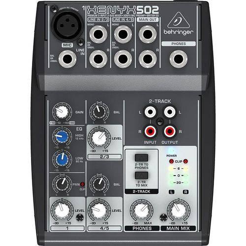 Mesa de Som Behringer Xenyx 502 C/ 5 Entradas e Pré-amp 110V