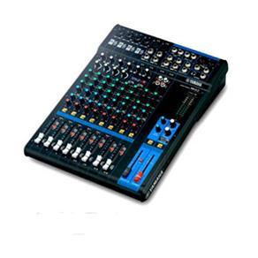 Mesa de Som MG12 Yamaha Mixer de 12 Canais 4 Entradas de Microfones Saída XLR