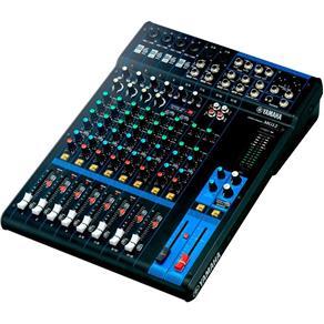 Mesa de Som Yamaha MG10XU Analógica com 12 Canais 4 Microfones Max 6 e 4 Estéreo