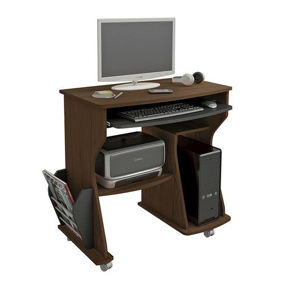 Tudo sobre 'Mesa para Computador 160 - Amêndoa | Preto'