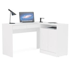 Mesa para Computador Escrivaninha 2 Portas Portugal - Politorno - BRANCO
