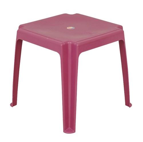 Mesa Plástico Quadrada Infantil Rosa 45x45x45cm