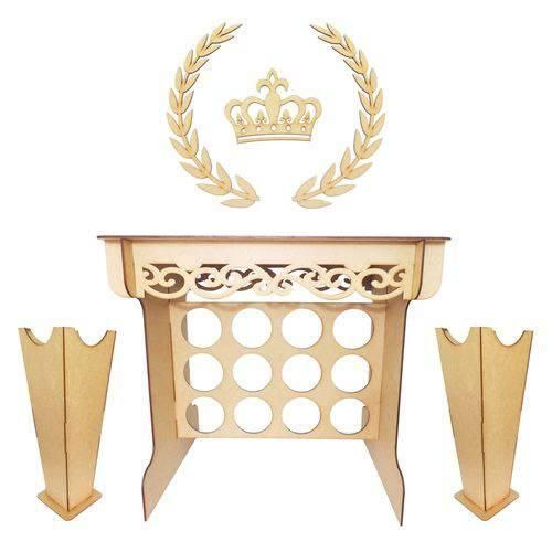 Mesa Provençal - Vasos - Ramos e Coroa de Parede
