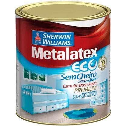 Tudo sobre 'Metalatex Eco Esmalte Base D'Água 900ml Acetinado Brilhante'