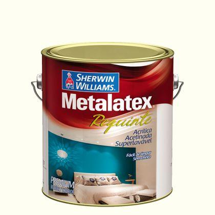 Tudo sobre 'Metalatex Requinte Superlavável Sem Cheiro 3,6 Litros - Acetinado Bianco Sereno'