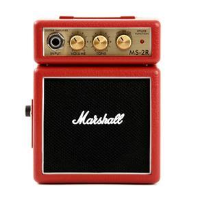 Micro Combo para Guitarra Marshall Vermelho Ms-2R-E Portátil