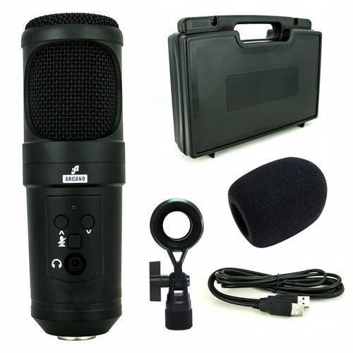Tudo sobre 'Microfone Arcano Condensador USB Ar-u200 Sb'