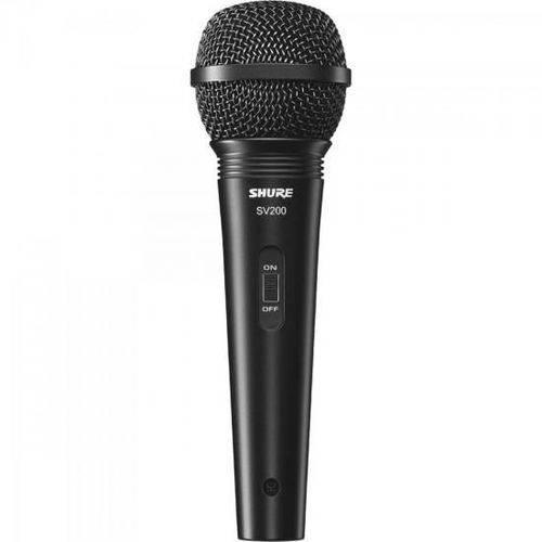 Microfone de Mao Multifuncional com Fio SV200 Preto Shure