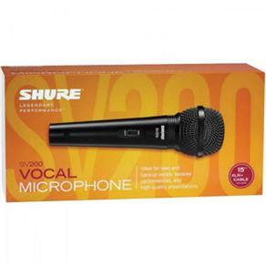 Microfone de Mão Multifuncional com Fio Sv200 Shure