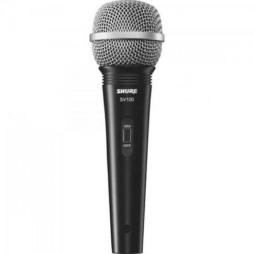 Microfone de Mão Multifuncional com Fio SV100 Preto SHURE