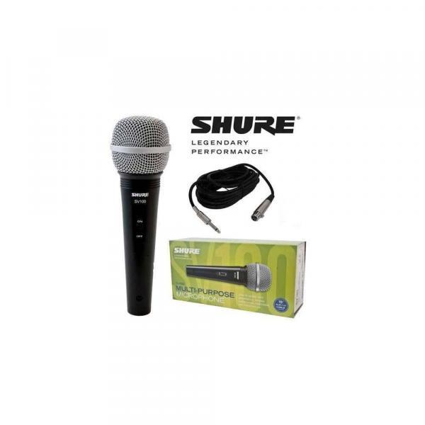 Microfone Fio Shure Sv100 com Cabo 2 Anos de Garantia
