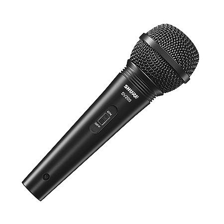 Microfone Profissional Shure Sv200 Vocal com Fio com Cabo 4,5 Metros
