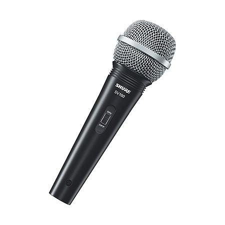 Microfone Profissional Shure Sv100 Vocal com Fio com Cabo 4,5 Metros