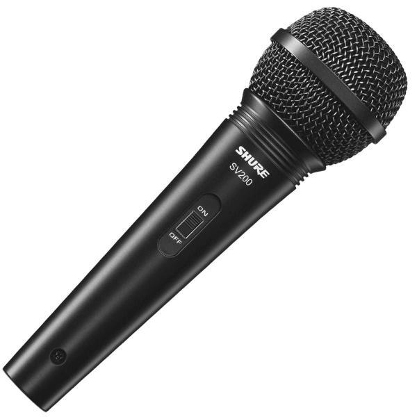 Microfone Profissional Vocal com Fio SV200 com Cabo 4,5 Metros - Shure