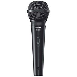 Microfone Shure Dinâmico Sv200 Original com Cabo