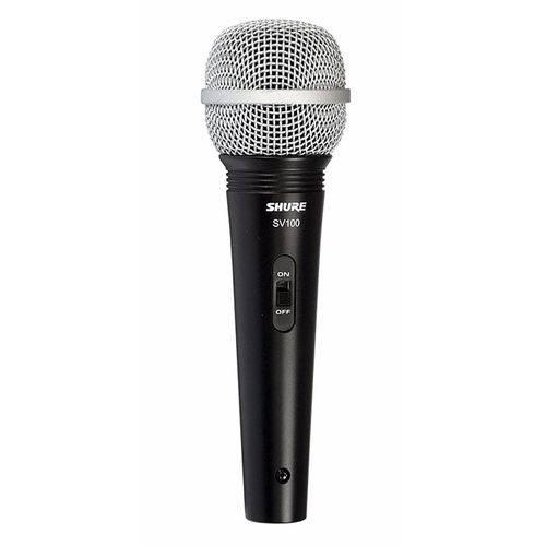 Microfone Shure Dinâmico Sv100 Original com Cabo