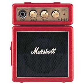 Mini Amplificador P/ Guitarra Marshall - MS-2R Red - AP0097