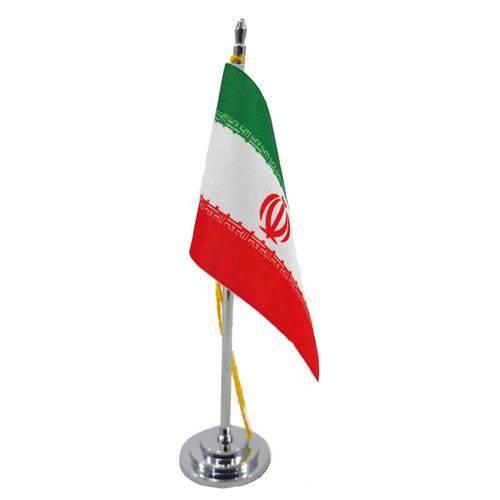 Tudo sobre 'Mini Bandeira de Mesa da Irã 15 Cm Poliéster'